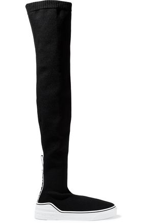 GIVENCHY George V stretch-knit over-the-knee sock boots