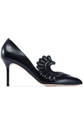 PAULA CADEMARTORI Appliquéd leather pumps