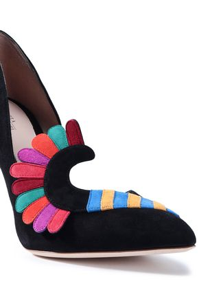 PAULA CADEMARTORI Appliquéd suede pumps