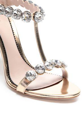 PAULA CADEMARTORI Embellished metallic leather sandals