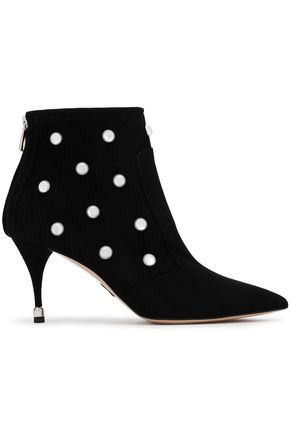 PAUL ANDREW Studded suede ankle boots