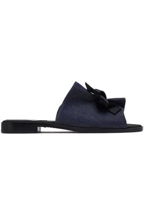 PAUL ANDREW Gathered denim slides
