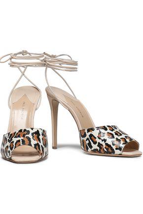 PAUL ANDREW Look At Me leopard-print snakeskin sandals