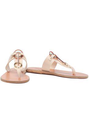 ANCIENT GREEK SANDALS Evia embellished leather sandals