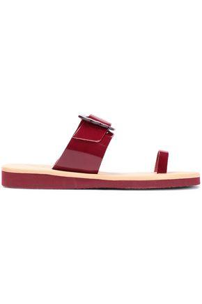ANCIENT GREEK SANDALS Panacea buckle-detailed patent-leather sandals