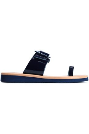 ANCIENT GREEK SANDALS Panacea buckle-detailed patent-leather sandals