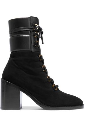 STUART WEITZMAN Leather and suede ankle boots