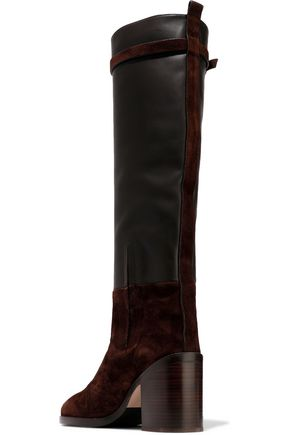 STUART WEITZMAN Leather and suede knee boots