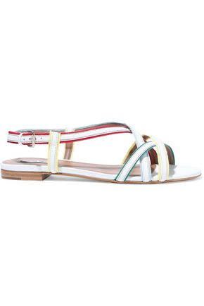 TABITHA SIMMONS Sarlo grosgrain-trimmed leather sandals