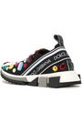 DOLCE & GABBANA Crystal-embellished stretch-knit sneakers
