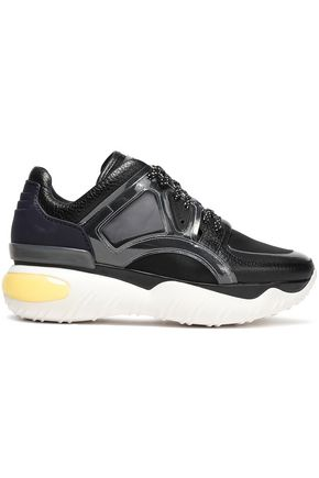 FENDI Leather, mesh and PVC sneakers