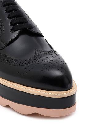 PRADA Perforated leather platform brogues