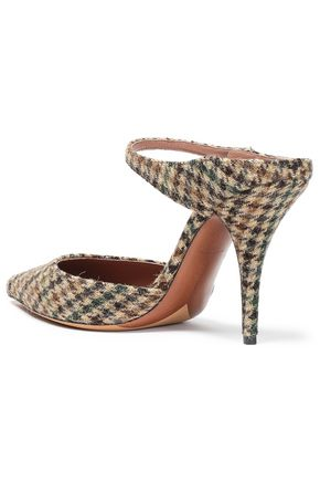 TABITHA SIMMONS Allie houndstooth wool mule