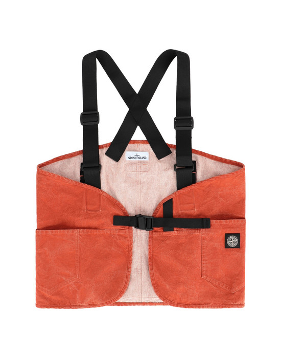 STONE ISLAND 962J1 PANAMA PLACCATO  Medium fabric bag Man Orange