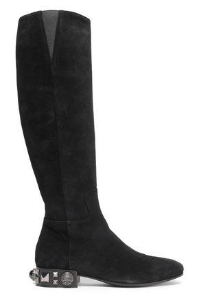 DOLCE & GABBANA Embellished suede boots
