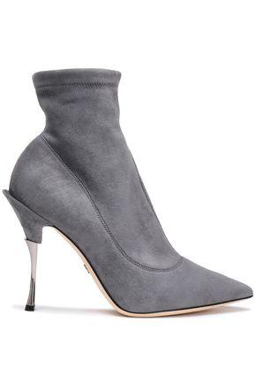 DOLCE & GABBANA حذاء بوت إلى الكاحل من الجلد الناعم
