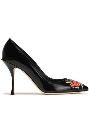 DOLCE & GABBANA Embellished leather pumps
