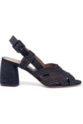 TABITHA SIMMONS Peggy denim slingback sandals