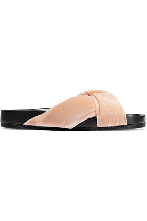 CHLOÉ Nolan twisted velvet slides