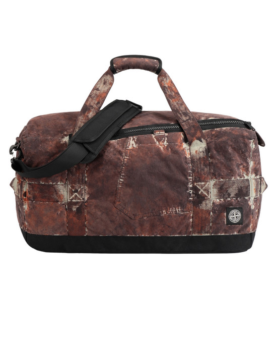 STONE ISLAND 913PD PAINTBALL CAMO_COTTON/CORDURA® Travel & duffel bag Man Dark Brown