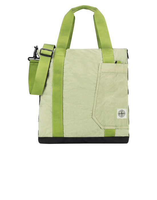 STONE ISLAND 91170 Medium fabric bag Man Pistachio Green