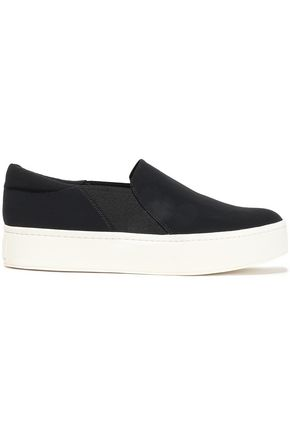 VINCE. Warren stretch-knit platform slip-on sneakers