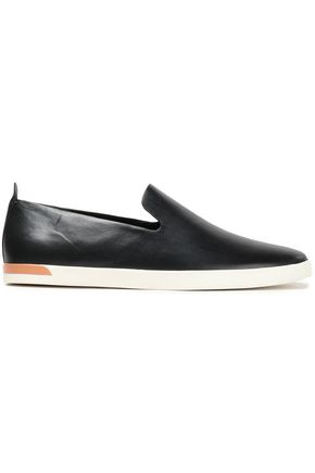 VINCE. Leather slip-on sneakers