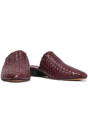 VINCE. Galena woven leather mules