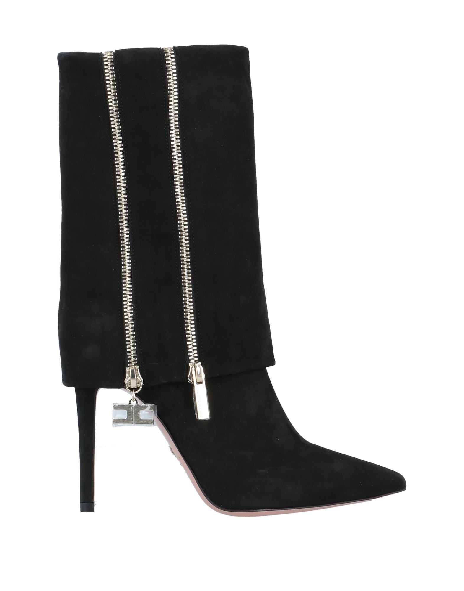 《セール開催中》ELISABETTA FRANCHI レディース ショートブーツ ブラック 36 革