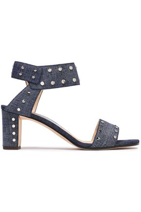 JIMMY CHOO Veto 65 studded denim sandals