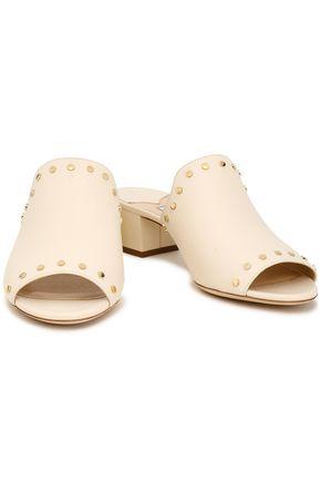JIMMY CHOO Myla studded leather mules
