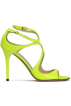 JIMMY CHOO Neon patent-leather sandals