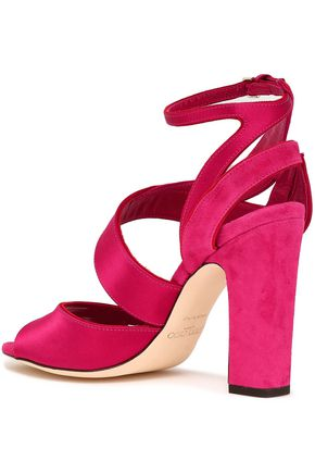19ea184d3fb Falcon satin and suede sandals | JIMMY CHOO | Sale up to 70% off ...