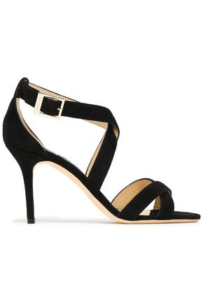 JIMMY CHOO Louise 85 suede sandals