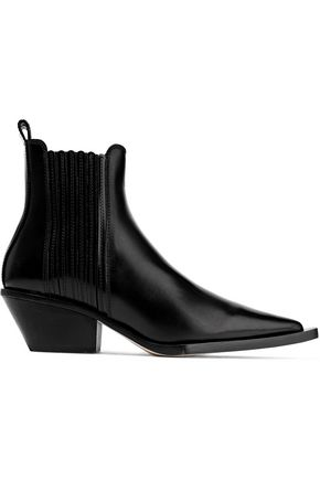 HELMUT LANG Glossed-leather ankle boots