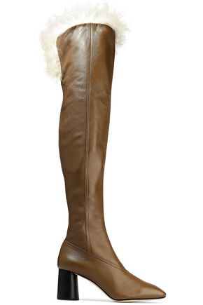 shearling-lined-leather-over-the-knee-boots by helmut-lang