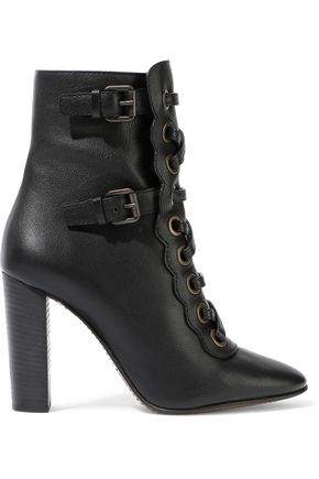 CHLOÉ Orson buckled leather ankle boots