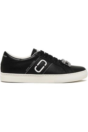 MARC JACOBS Embellished leather sneakers