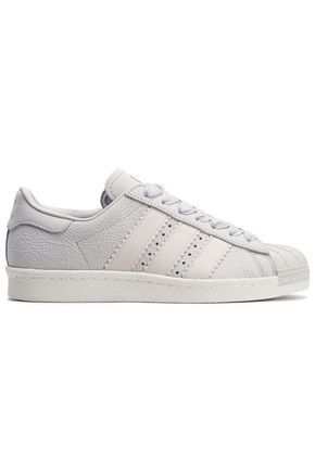 ADIDAS ORIGINALS Superstar 80s paneled textured-leather sneakers