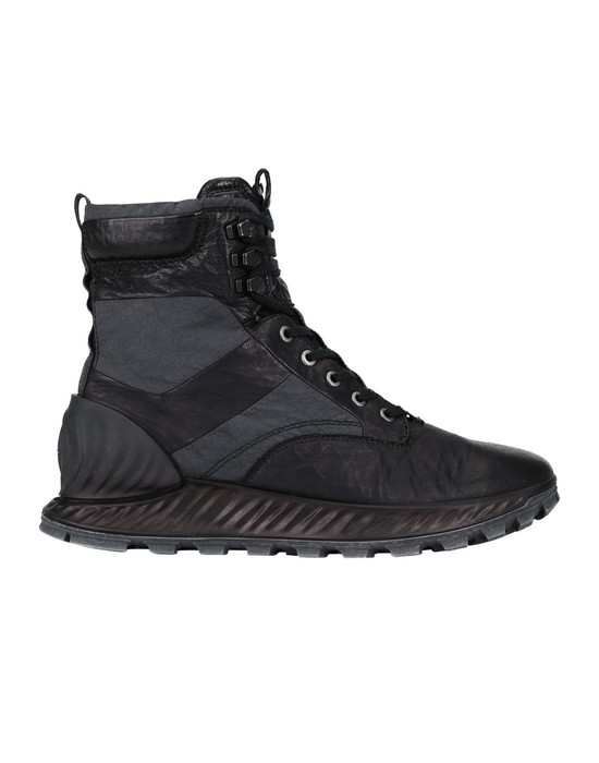 STONE ISLAND S0695 GARMENT DYED LEATHER EXOSTRIKE BOOT CON DYNEEMA® SHOE Man Black