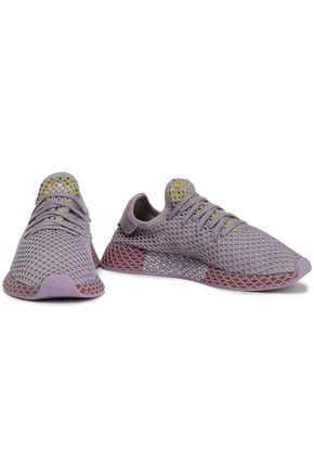 ADIDAS ORIGINALS Deerupt Runner suede-trimmed mesh sneakers