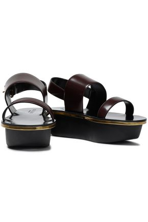 MARNI Leather platform slingback  sandals