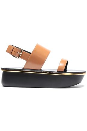 MARNI Leather platform slingback  sandals