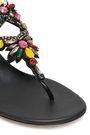 RENE' CAOVILLA Crystal-embellished leather sandals