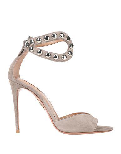 Фото - Женские сандали  светло-серого цвета