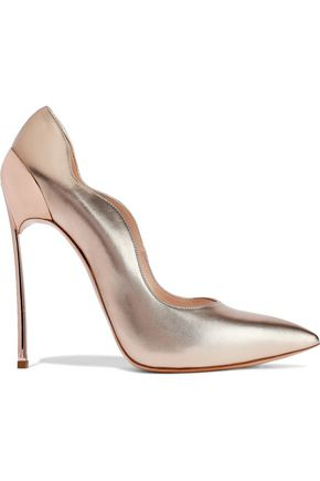 CASADEI Metallic leather pumps