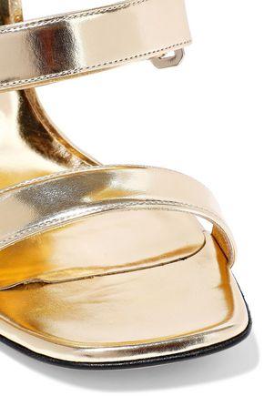 CASADEI Metallic patent-leather mules