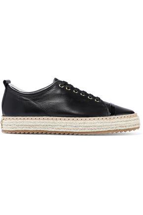 LANVIN Leather espadrille sneakers