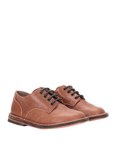 Фото 2 - Обувь на шнурках от PÈPÈ желто-коричневого цвета