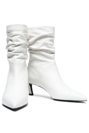 STUART WEITZMAN Gathered suede ankle boots